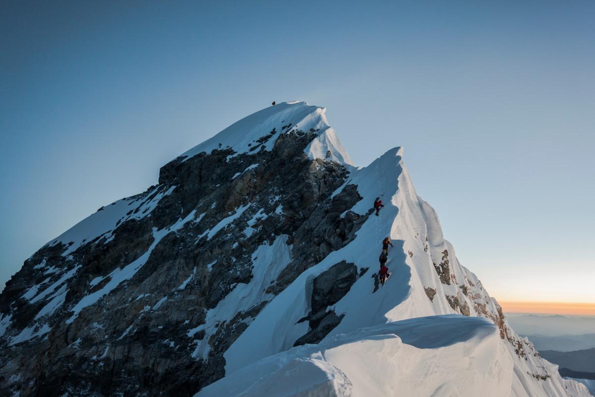 Summiting Mount Everest at 29,029 feet.