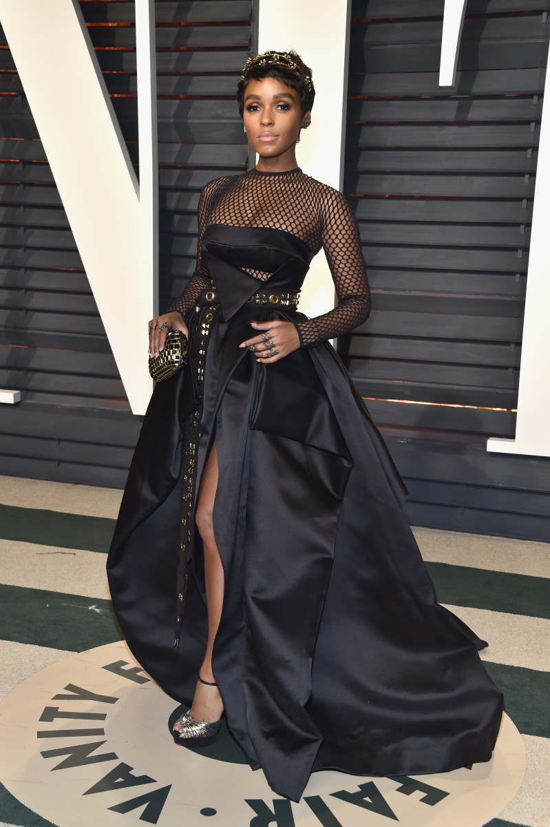 Janelle Monae at the Vanity Fair Oscars party in 2017.