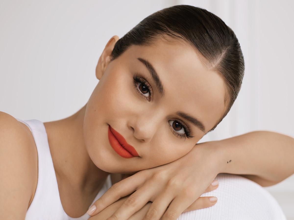 Selena Gomez for Rare Beauty.