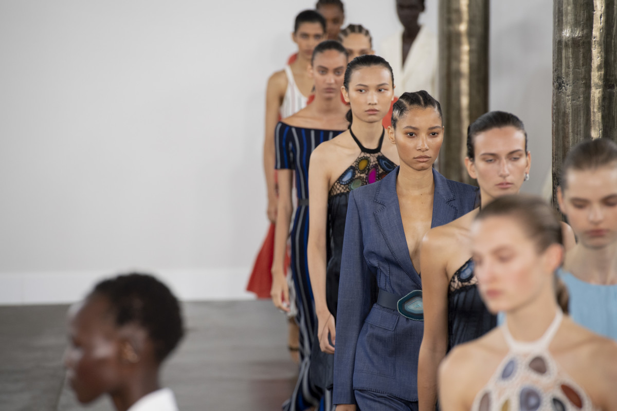 Looks from the Spring 2020 Gabriela Hearst collection.