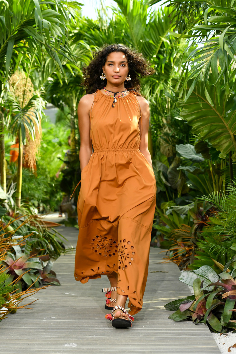 Pose's Indya Moore opened Jason Wu's Spring 2021 show.