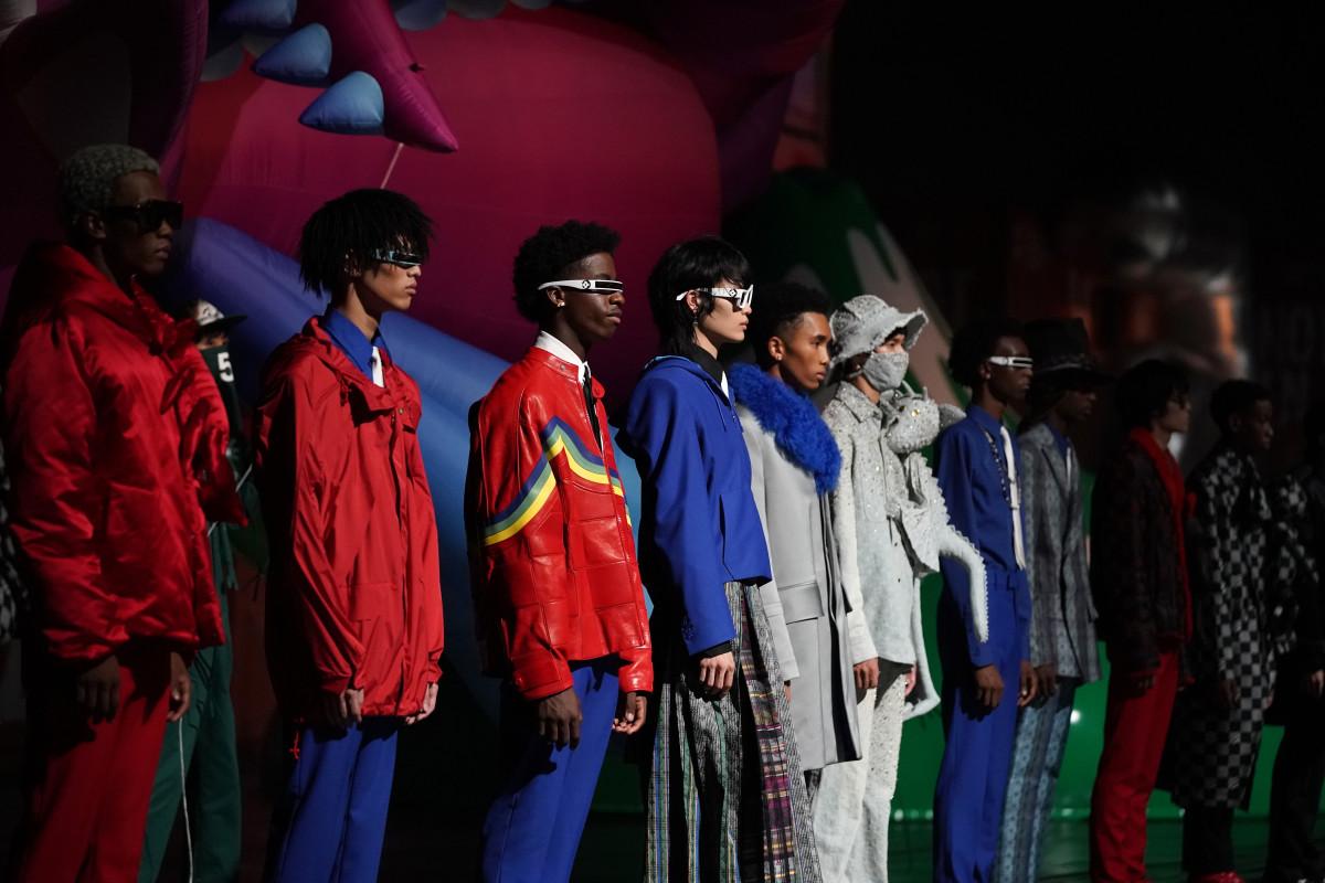 The Louis Vuitton Men Spring 2021 show on September 2, 2020 in Tokyo, Japan.