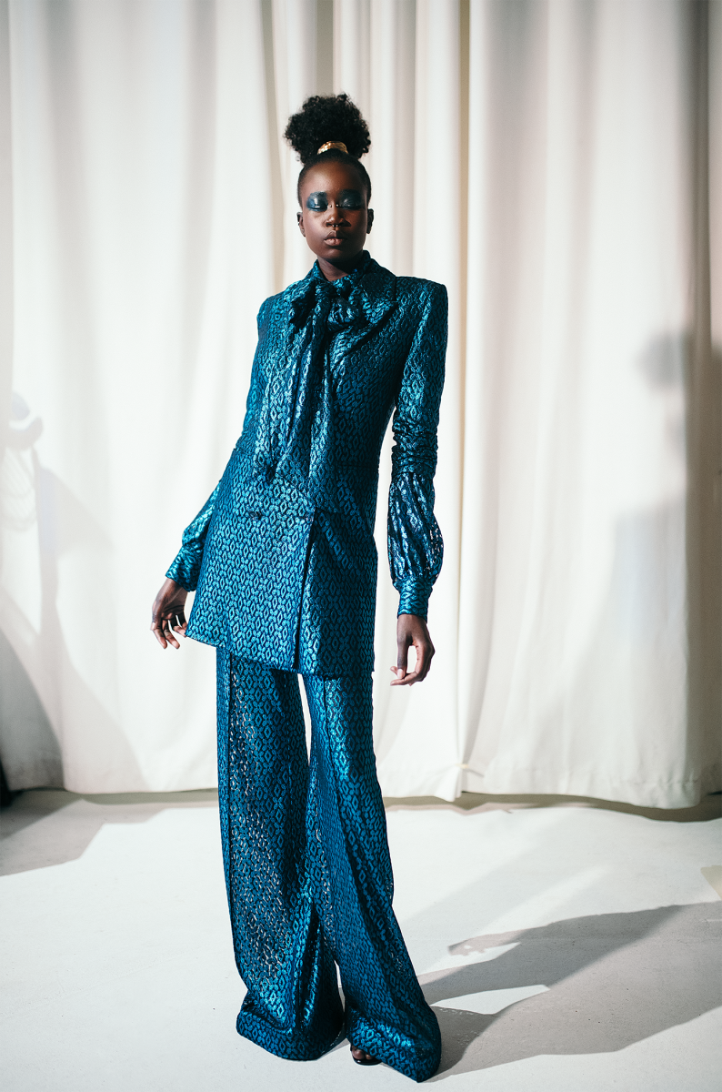 A look from Kimberly Goldson's latest collection.