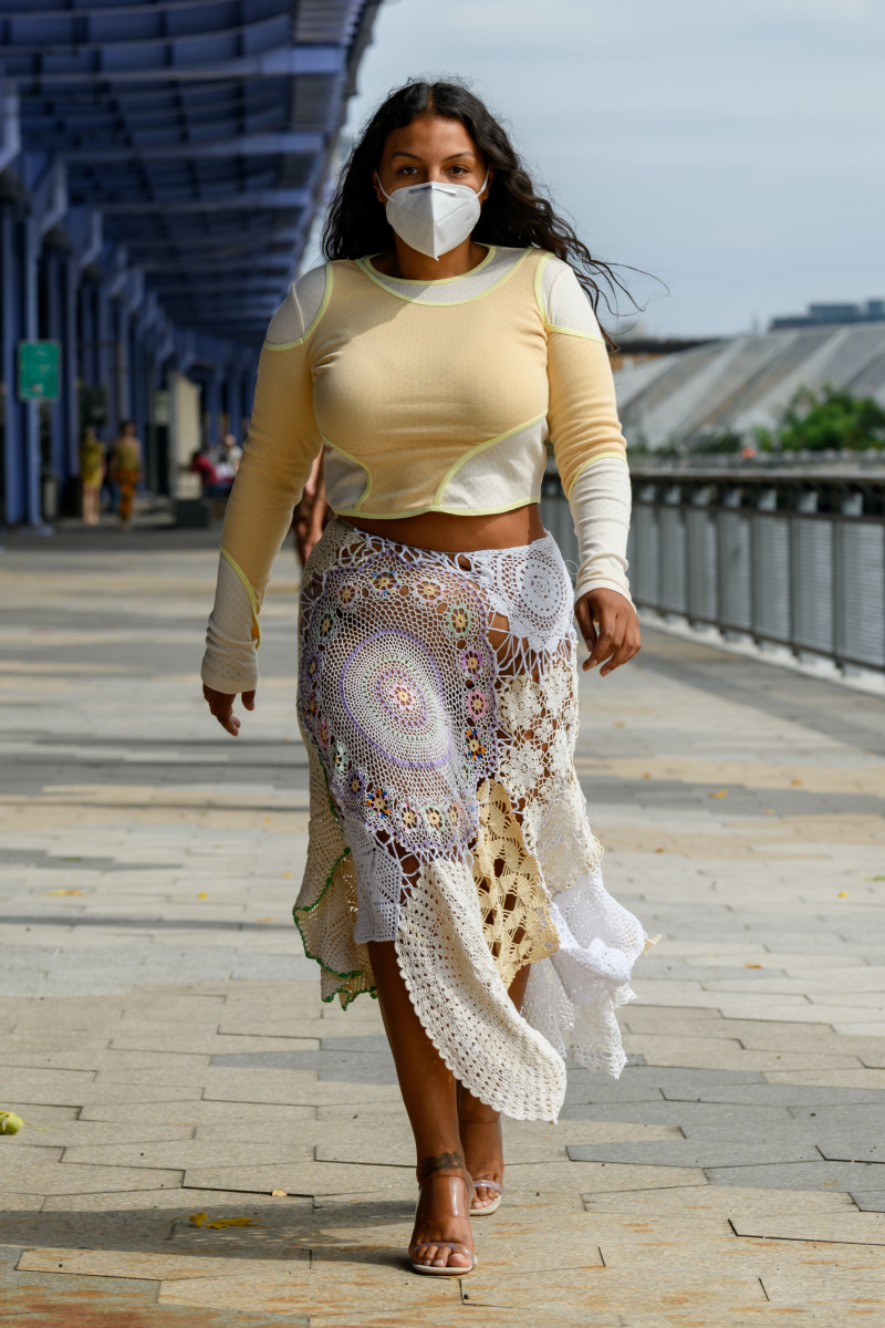 A look from Eckhaus Latta's Spring 2021 collection.