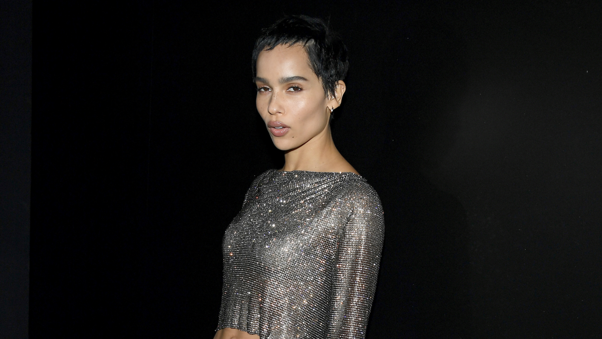 Great Outfits in Fashion History: Zoë Kravitz in a Slinky Chainmail Saint Laurent Top