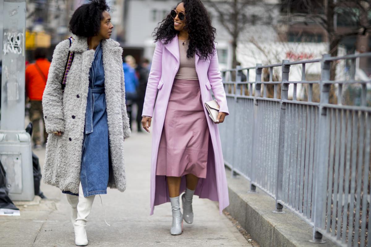 Nicole Chapoteau and Shiona Turini at New York Fashion Week.