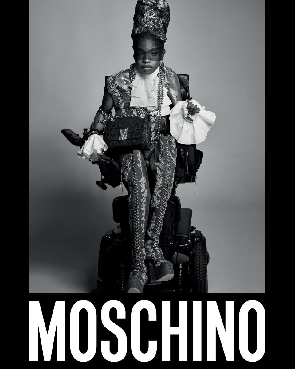 Aaron Philip for Moschino.