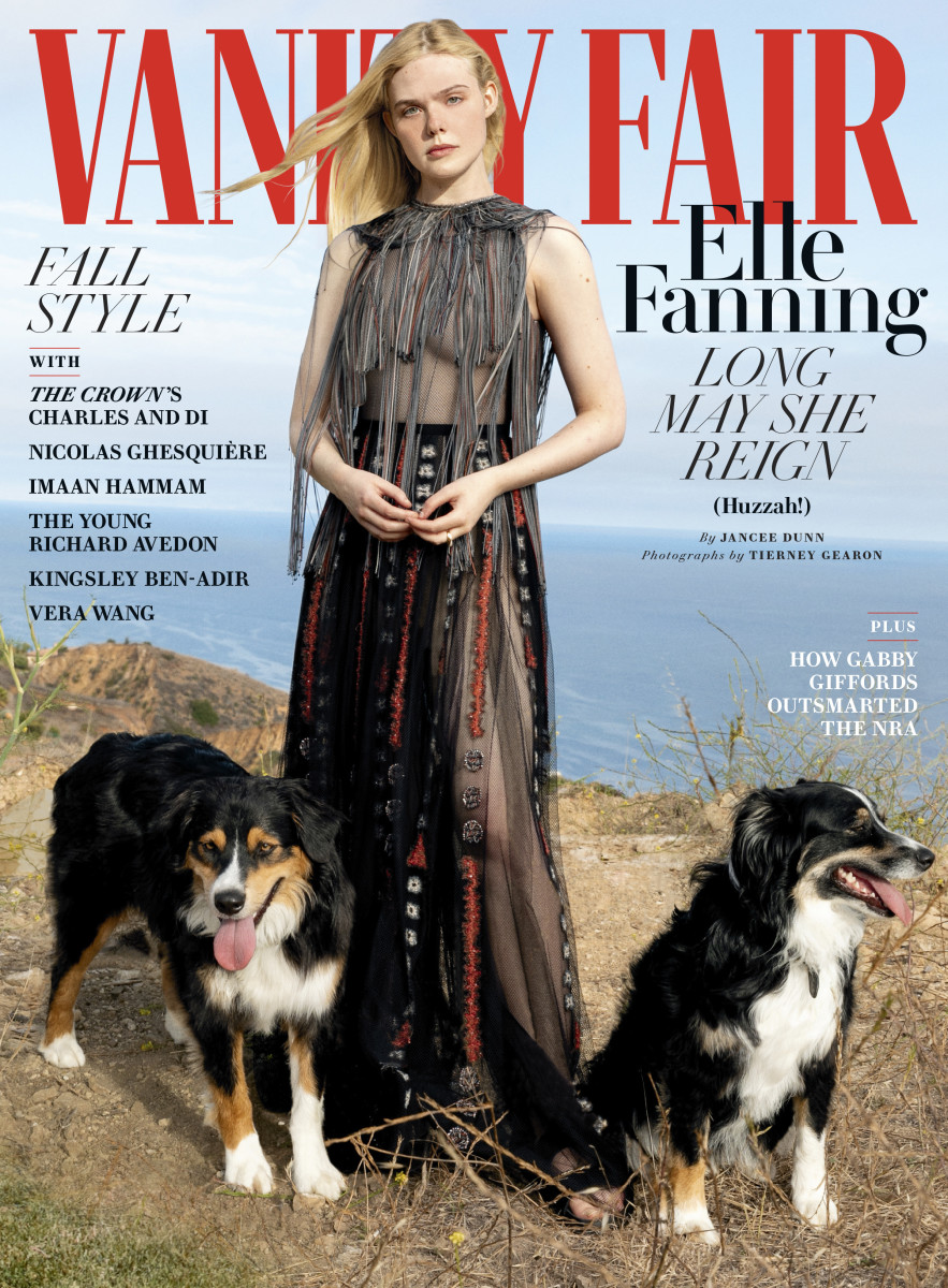 "Elle Fanning on the October 2020 cover of ""Vanity Fair."""