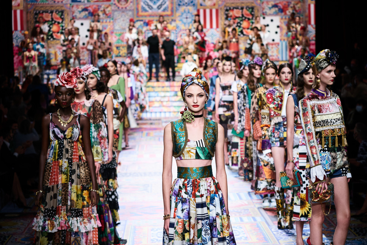 Looks from the Dolce & Gabbana Spring 2021 collection.