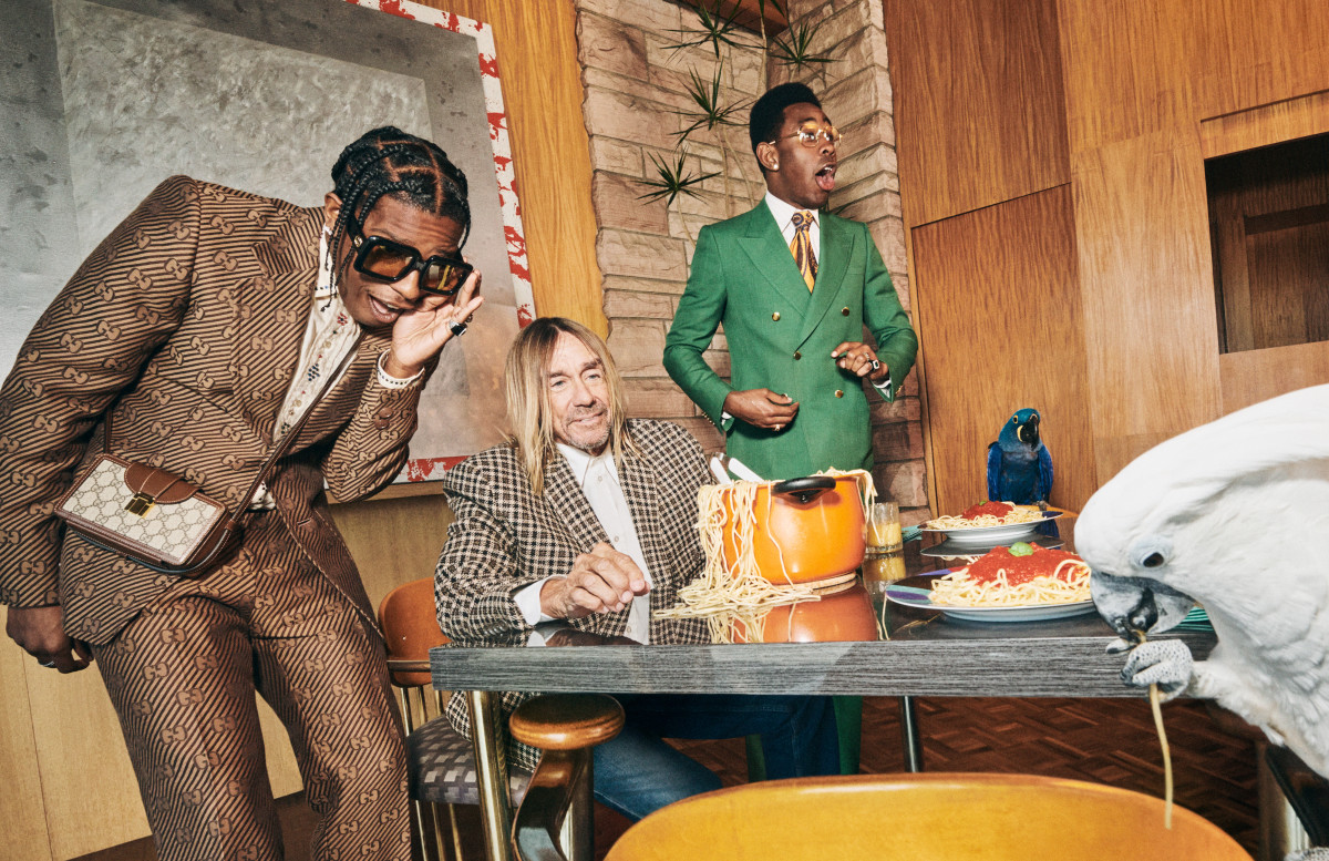Iggy Pop, ASAP Rocky and Tyler, The Creator for Gucci Men's Tailoring 2020.