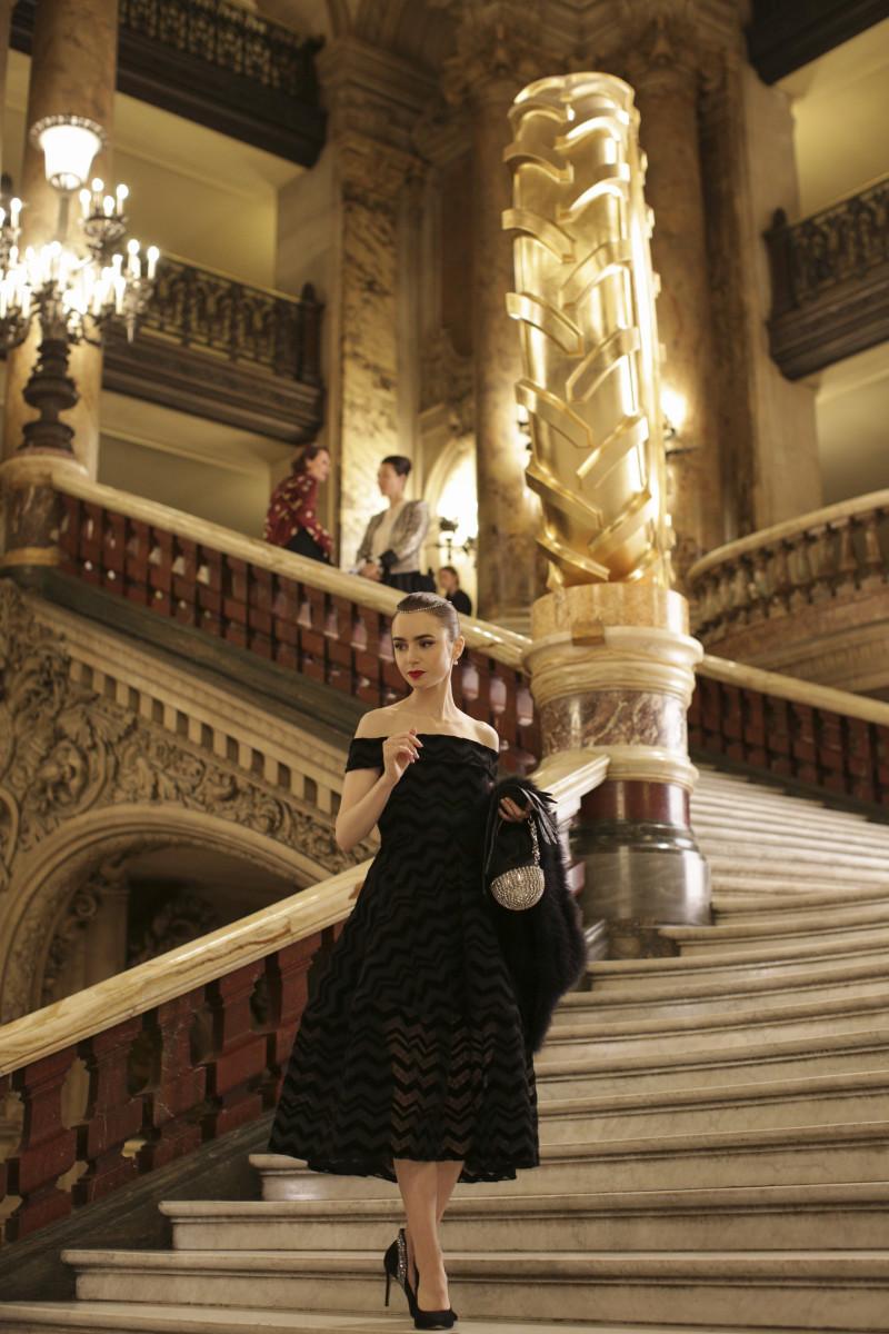 Emily's Audrey Hepburn homage at the opera.