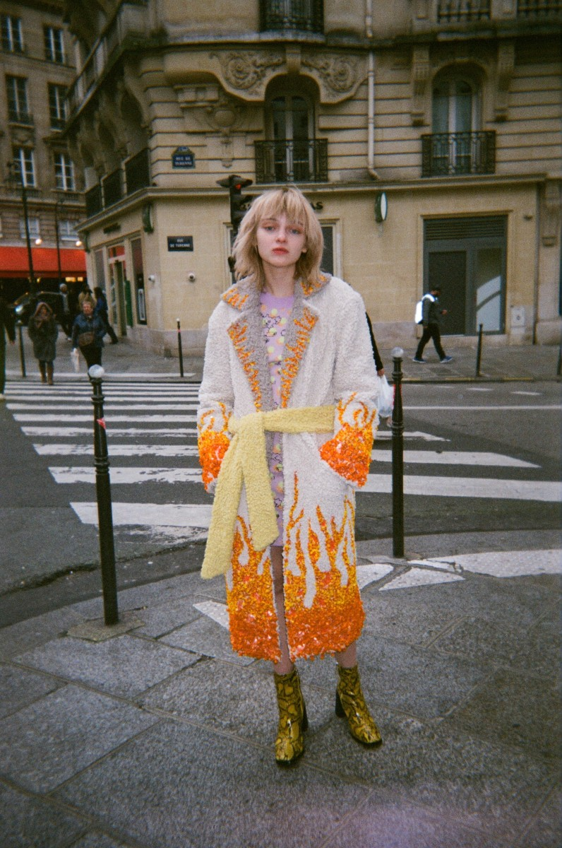 The Fran Flame Coat, from Colin LoCascio's Fall 2020 collection.