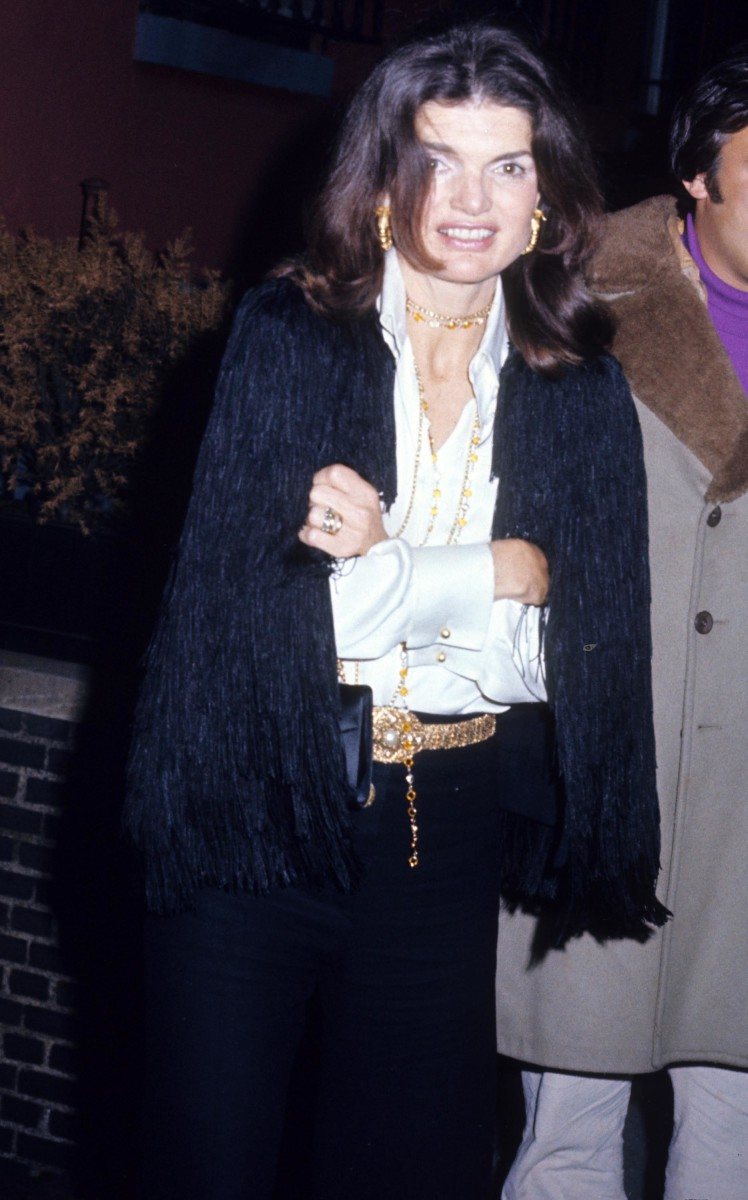 Jackie Kennedy Onassis in New York in 1974.