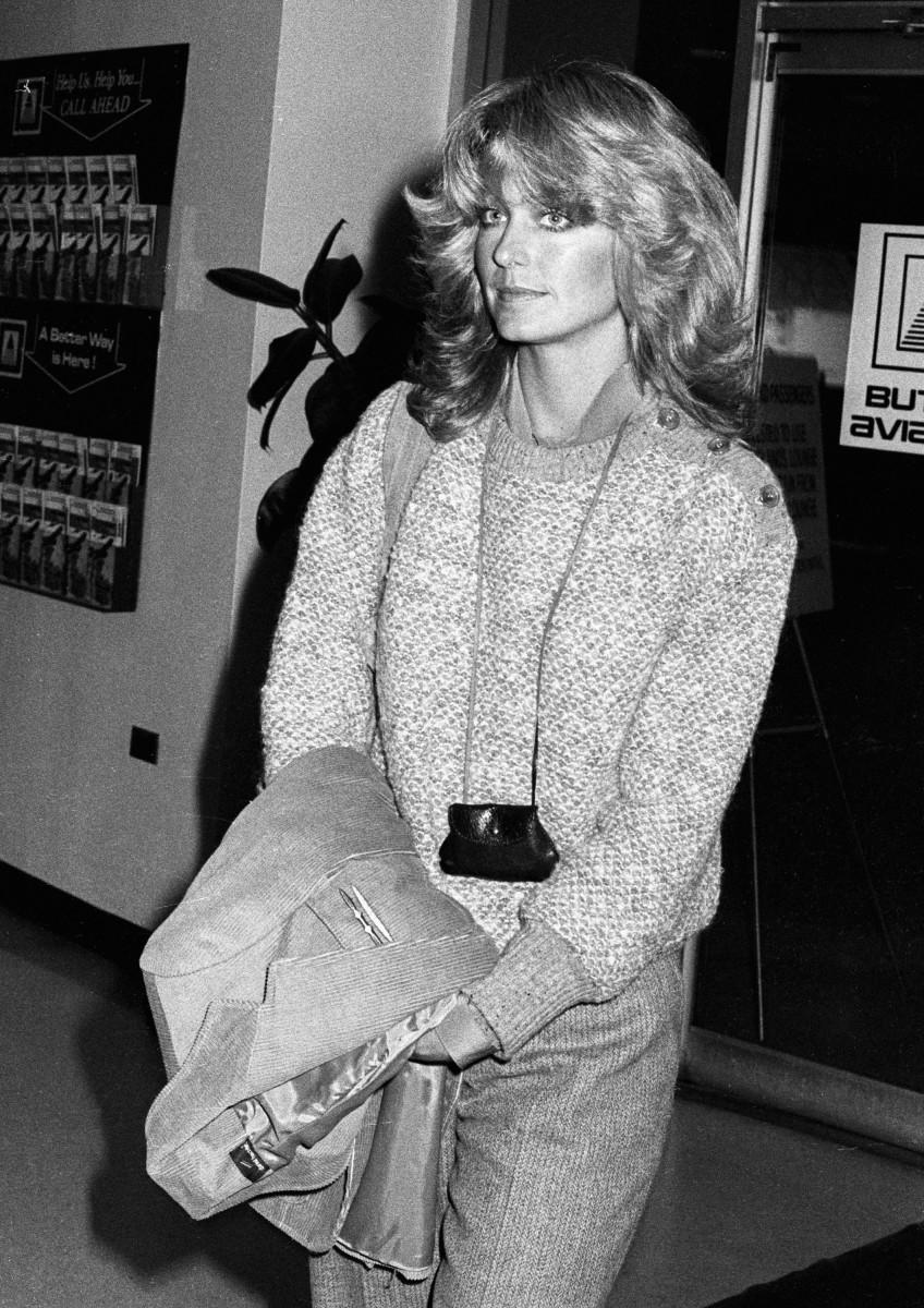 Farrah Fawcett in New York City in 1977.