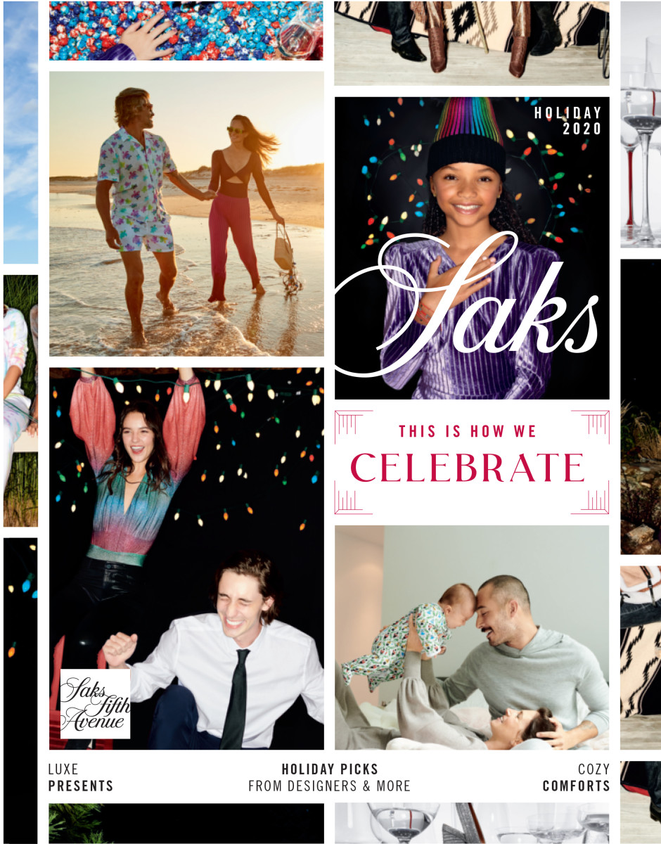 The cover of Saks Fifth Avenue's 2020 Holiday Book.