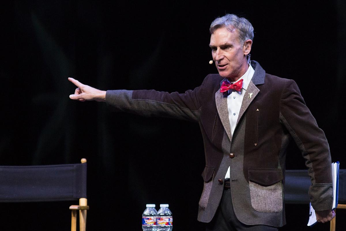 Bill Nye the Science Guy speaks onstage during StarTalk Live!in Austin, TX onNovember 5, 2015.