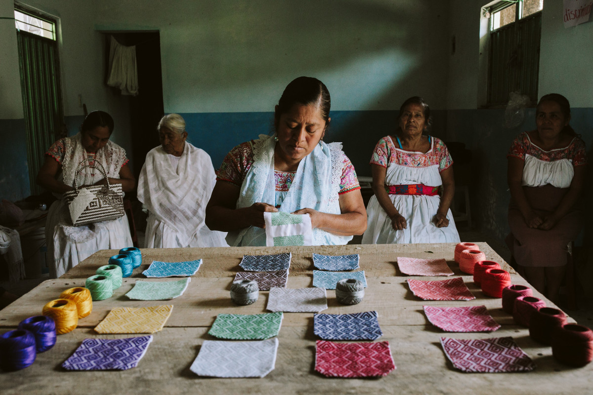 Artisans with whom Someone Somewhere partners, photographed in Cuetzalan, a mountain town in Mexico's south-central state of Puebla.