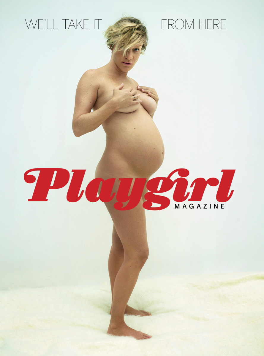 "Chloë Sevigny on the cover of ""Playgirl."""