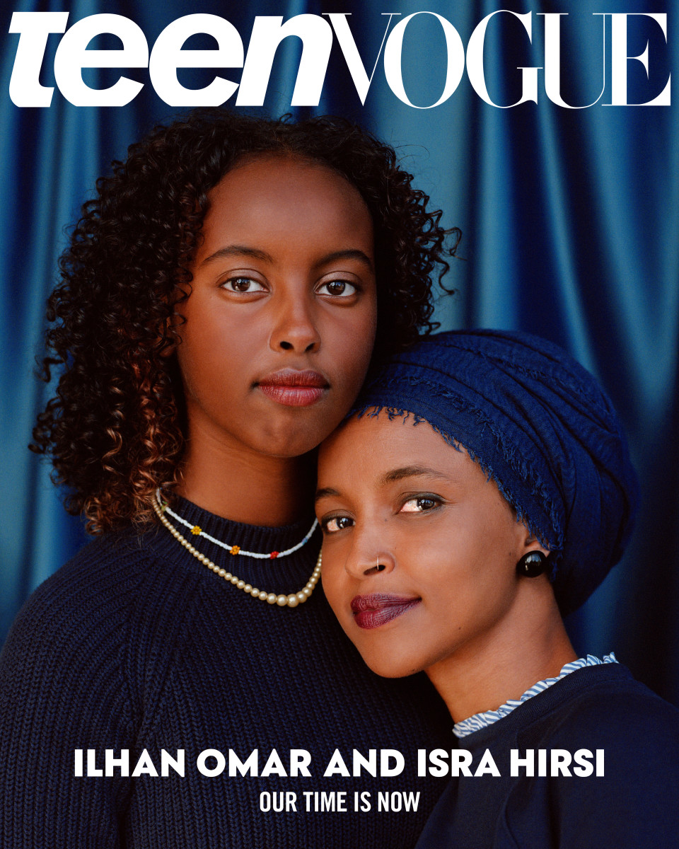 isra hirsi ilhan omar teen vogue cover november 2020