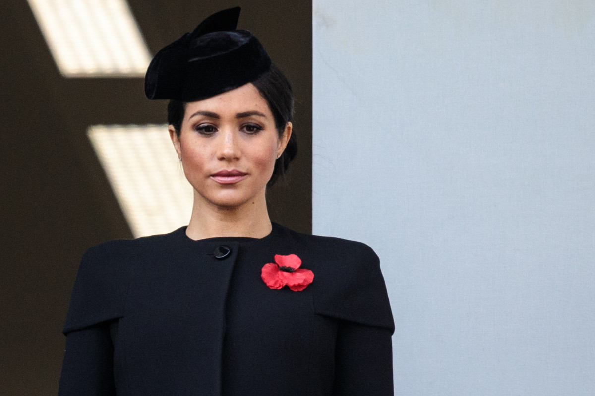 Meghan, Duchess of Sussex on Remembrance Day in 2018.