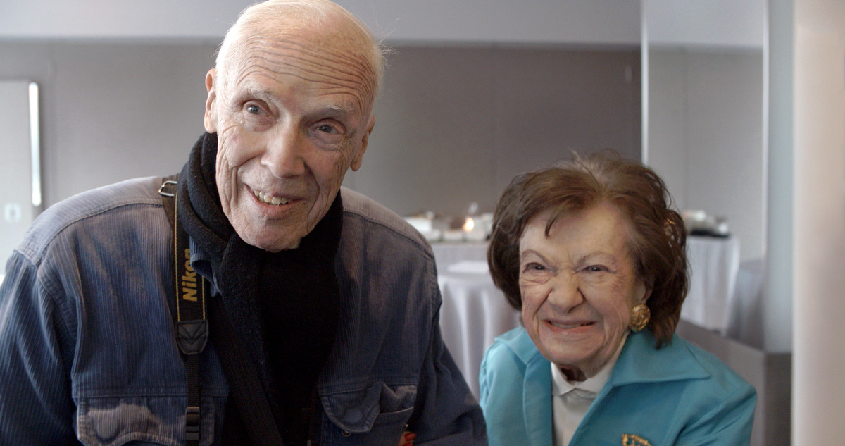 Bill Cunningham and Ruth Finley at City Meals on Wheels event honoring Ruth.