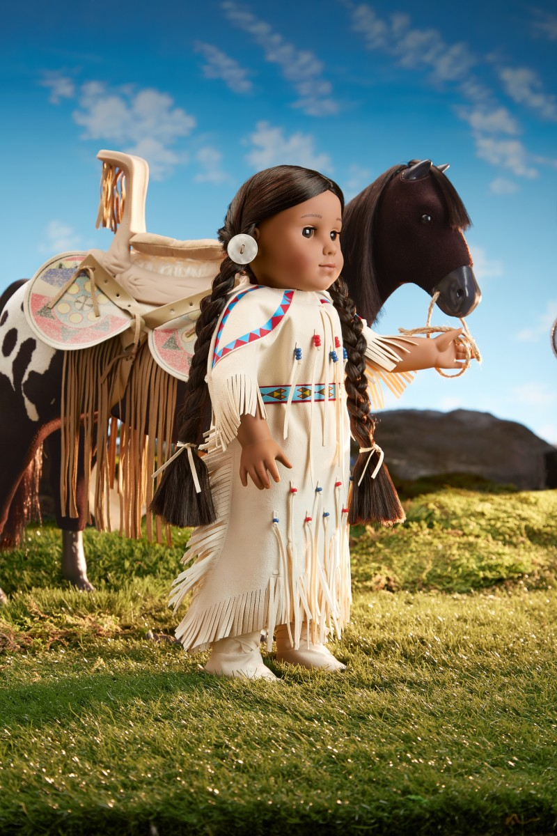 """Kaya, the """"First American Girl,"""" pictured here with her mare, Steps High."""