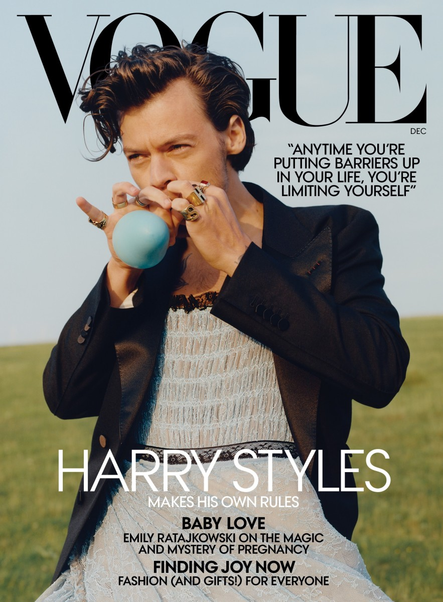 harry styles vogue cover december 2020