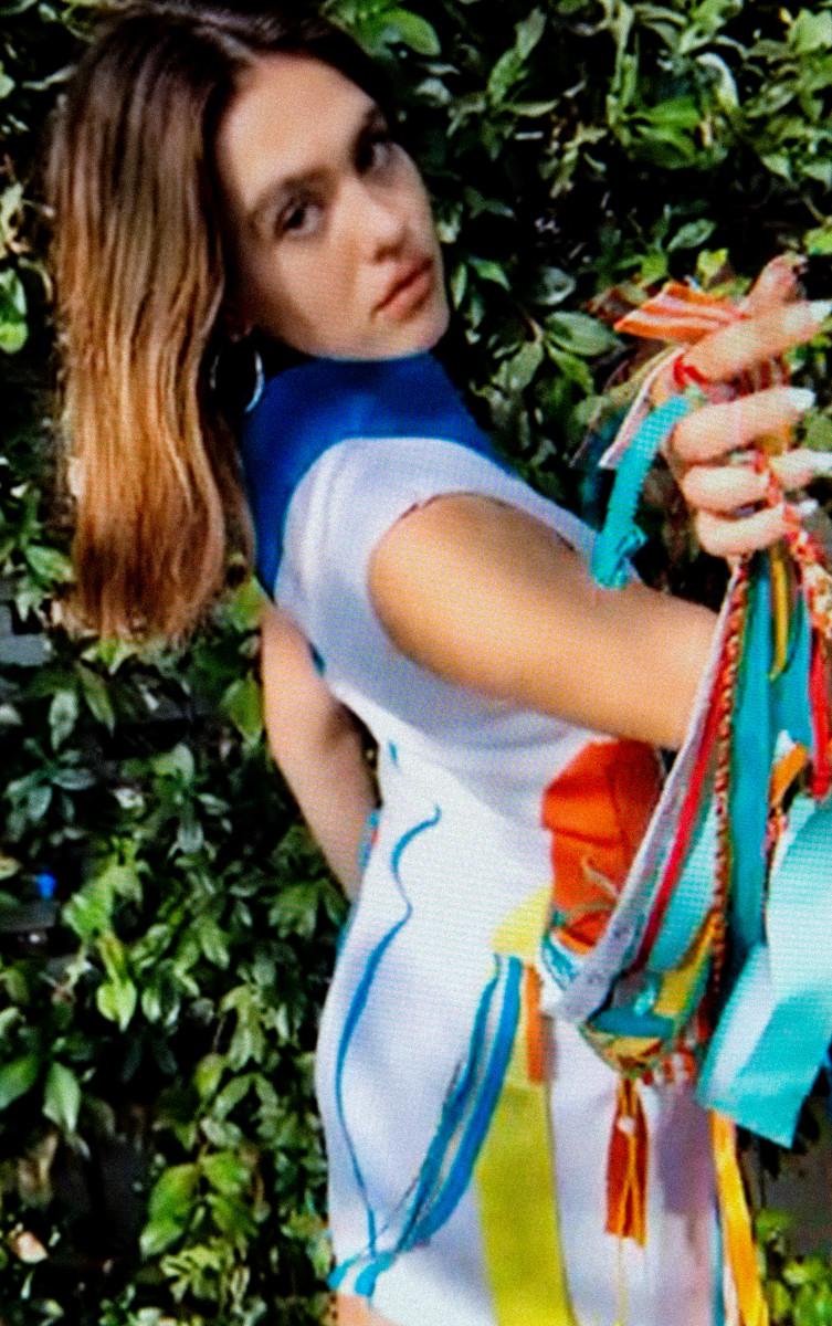 Amelia Gray in a look by Sierra Bray