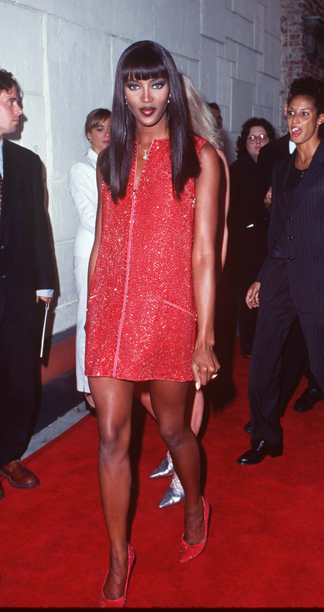 "Naomi Campbell a the premier of ""Unzipped"" in 1995."