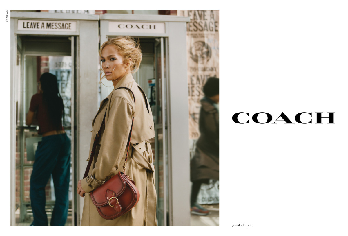 Jennifer Lopez in Coach's Spring 2021 campaign.