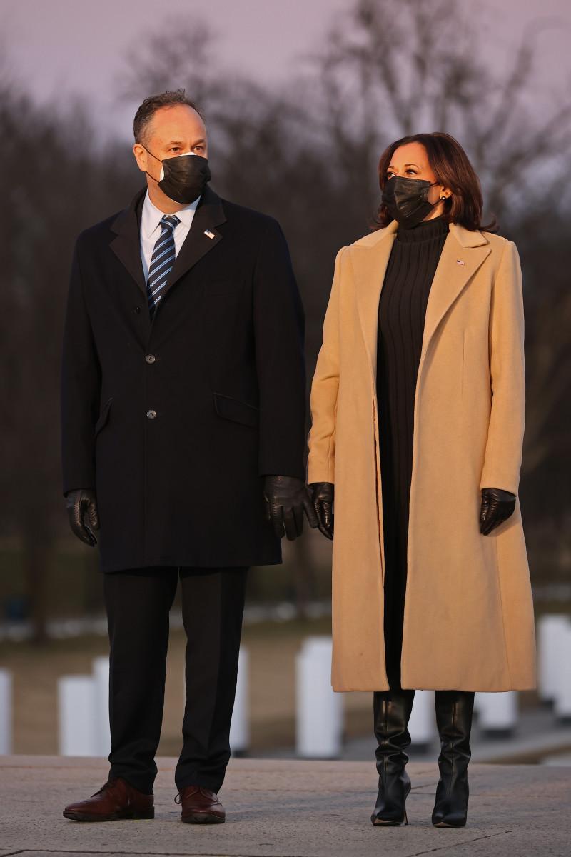 Kamala Harris COVID-19 Memorial Service Held In Washington On The Eve Of Biden's Inauguration