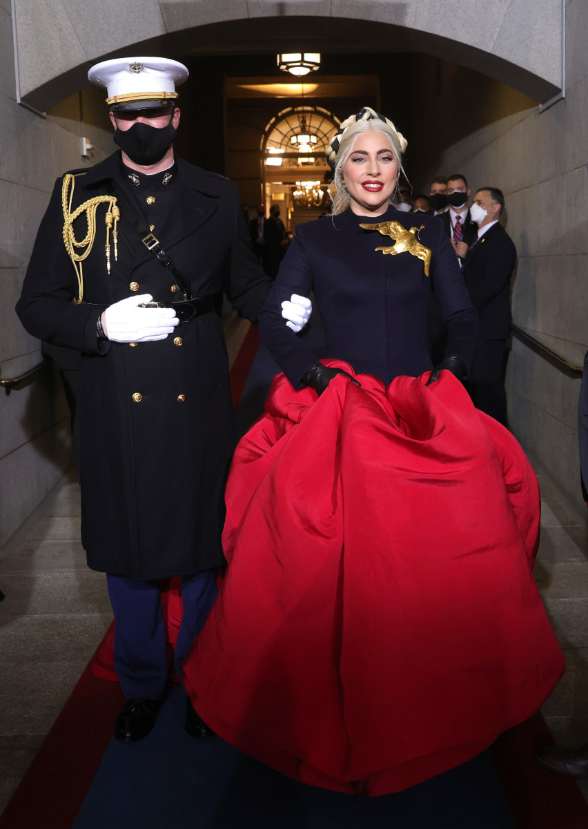 lady gaga at the 2021 presidential inauguration