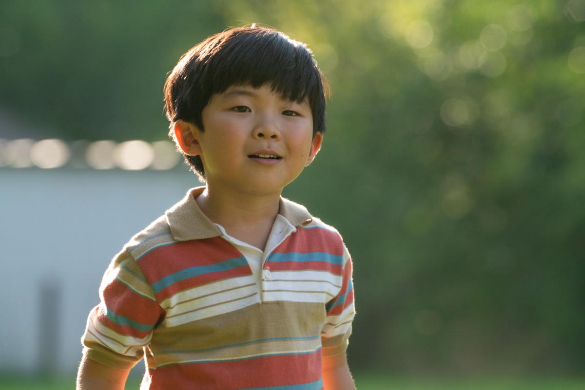 Alan S. Kim as David in 'Minari,' costume design by Susanna Song.