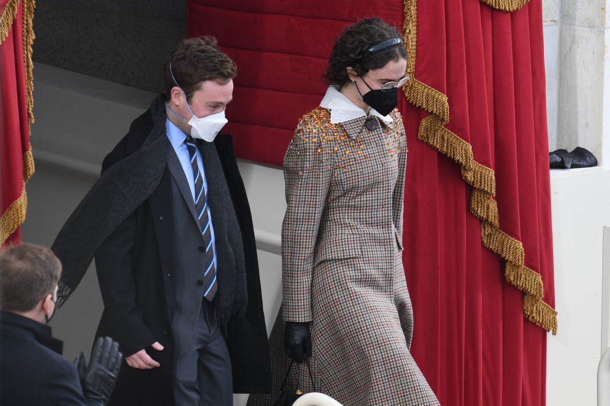 Cole and Ella Emhoff at the inauguration.