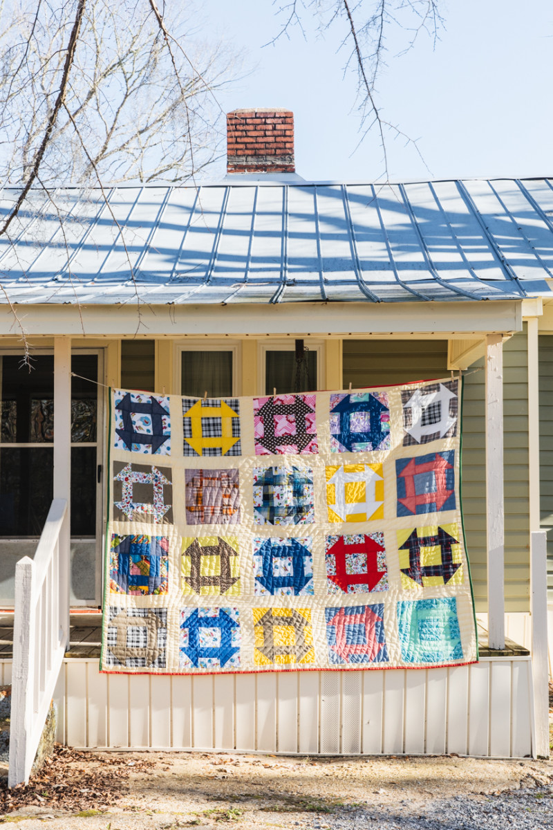 Quilt byDoris Pettway Mosely.