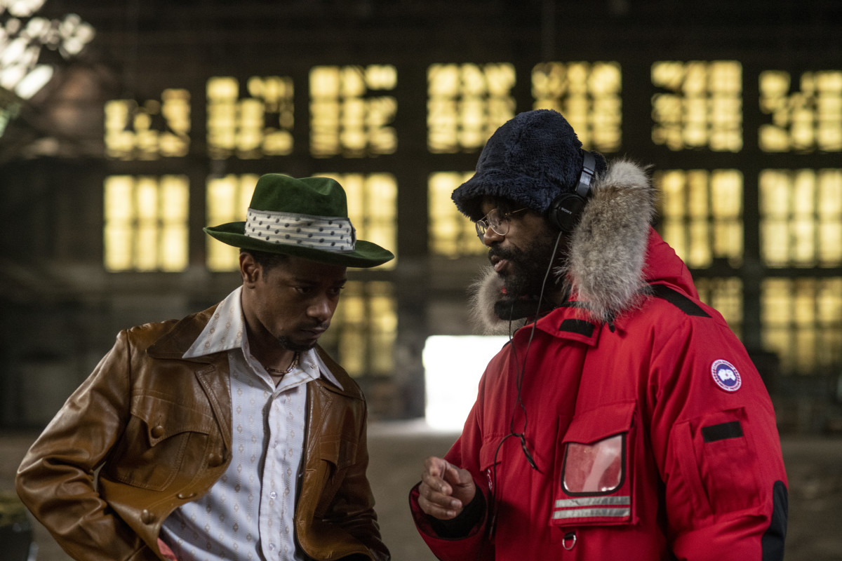 Stanfield as Bill O'Neal discussing the scene with King.