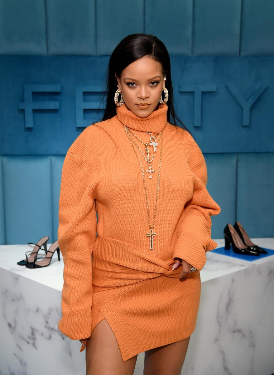 obyn Rihanna Fenty And Linda Fargo Celebrate The Launch Of FENTY At Bergdorf Goodman