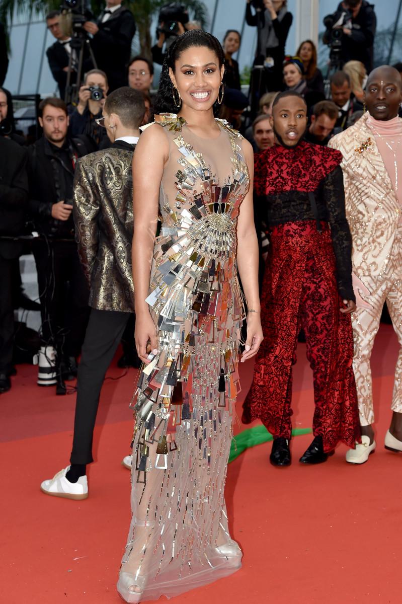 Bloom wearing Alberta Ferretti at Cannes.