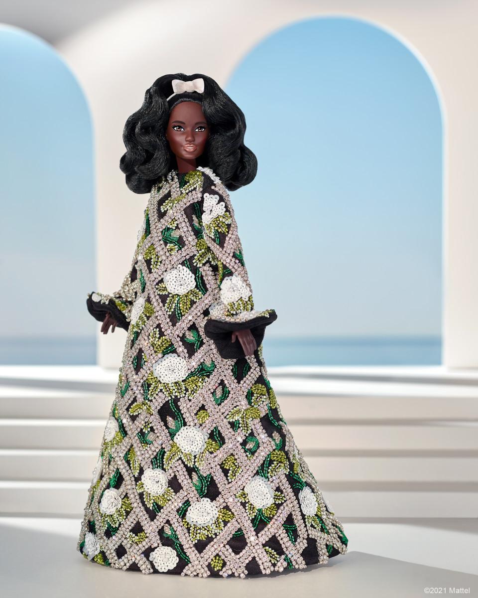 Barbie wearing Richard Quinn.