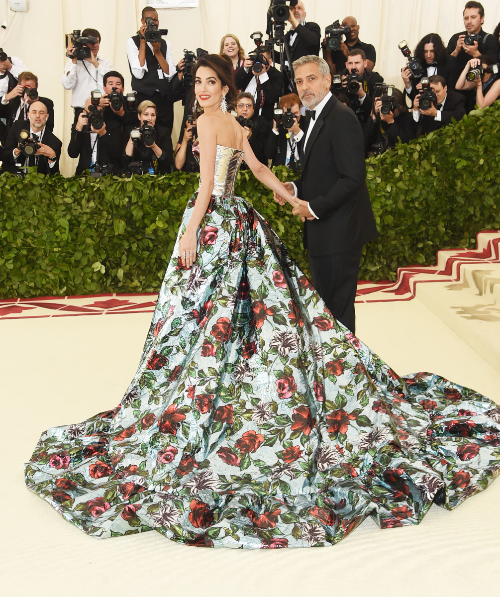 Amal Clooney Met Gala 2018 Richard Quinn Back
