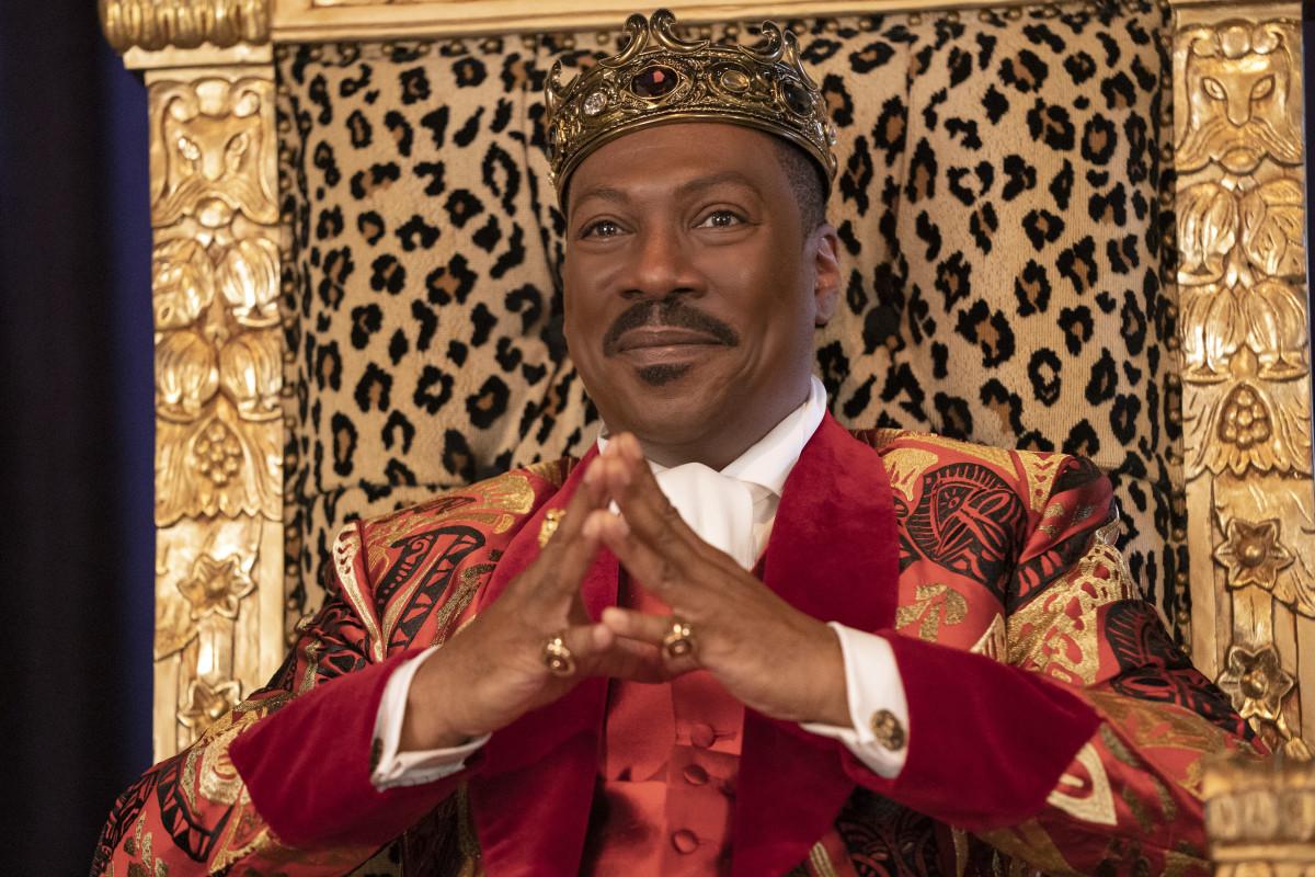 King Akeem (Eddie Murphy) in his royal Zamundan print.