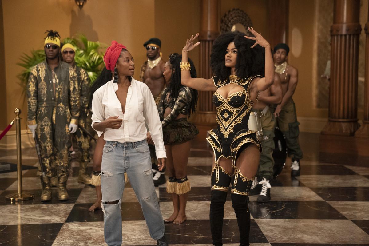Choreographer Fatima Robinson and Teyana Taylor as Bopoto.