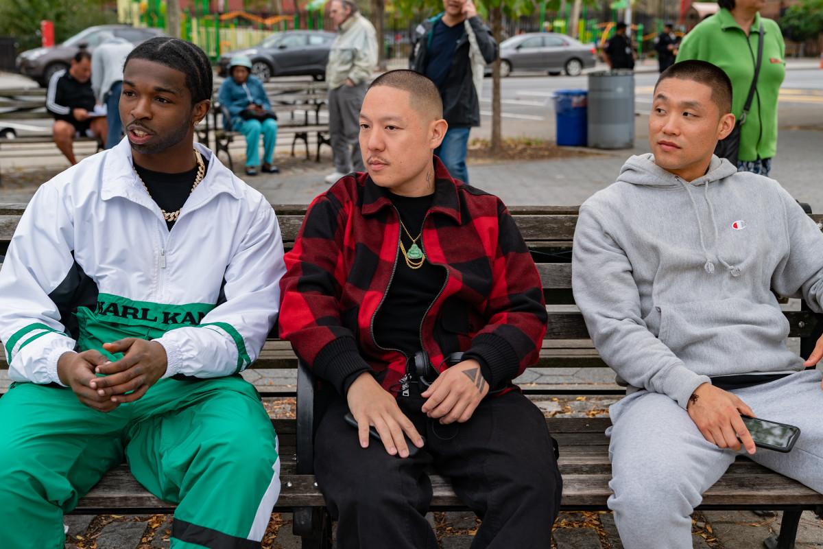 Monk (Pop Smoke), director Eddie Huang and Boogie (Taylor Takahashi).