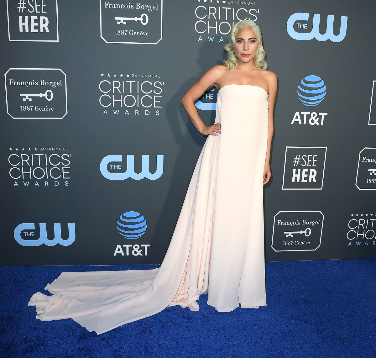Lady Gaga in Calvin Klein by Appointment at the 2019 Annual Critics' Choice Award