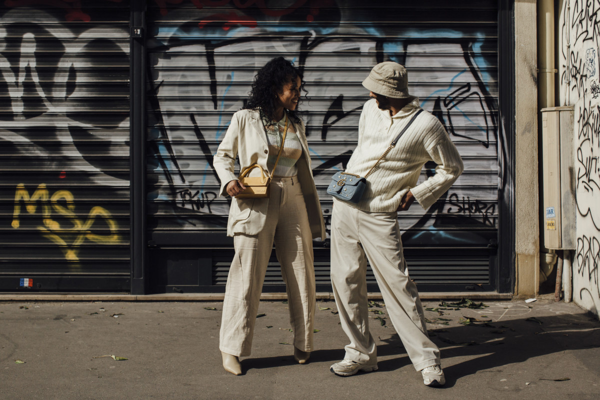 On the street at Paris Fashion Week Fall 2021