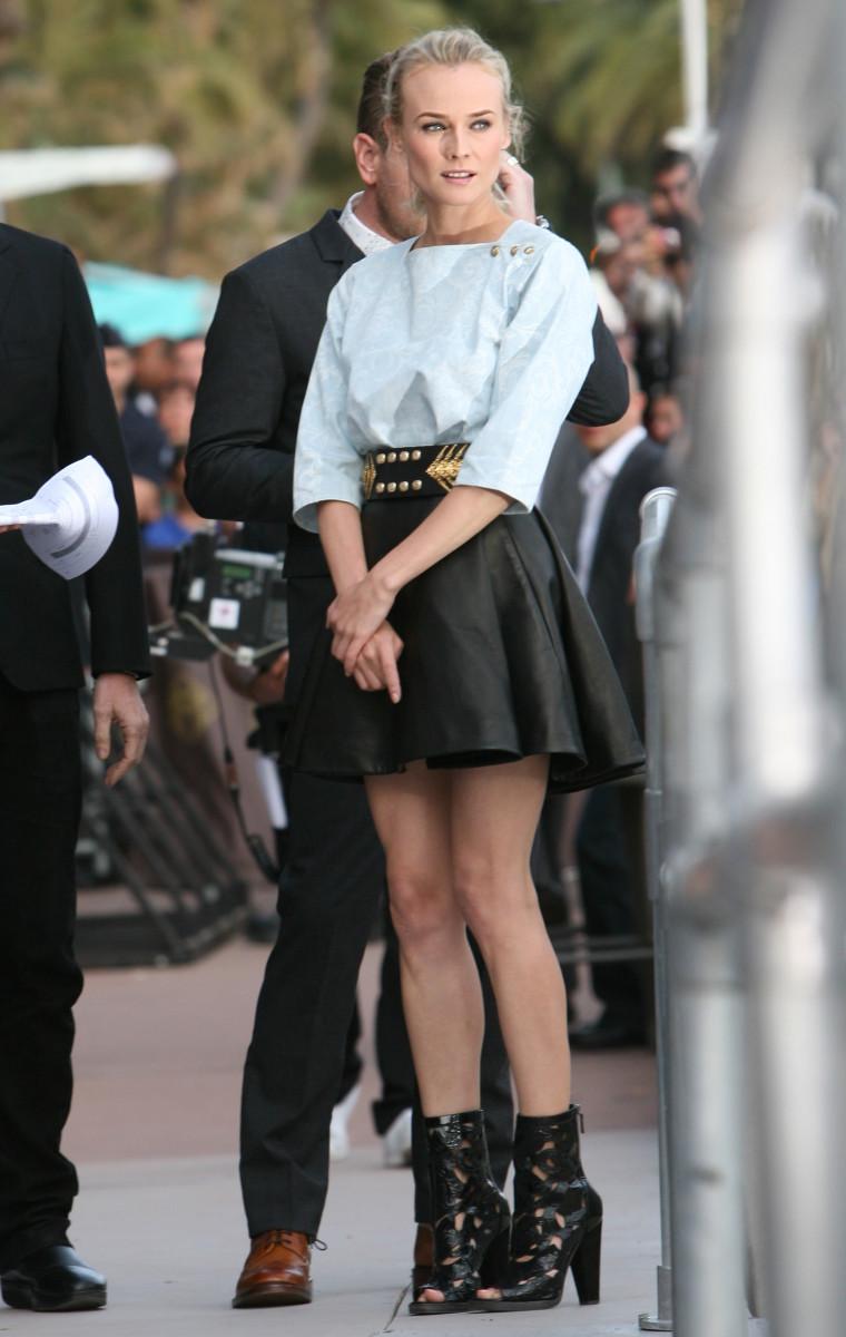 "Diane Kruger arrives for the TV show ""Le Grand Journal"""