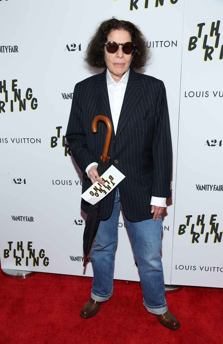 """Lebowitz at the premiere of """"The Bling Ring."""""""