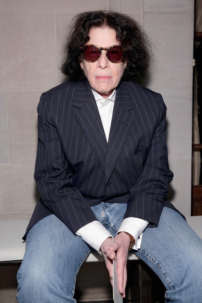 Lebowitz at a Diane von Furstenberg show.