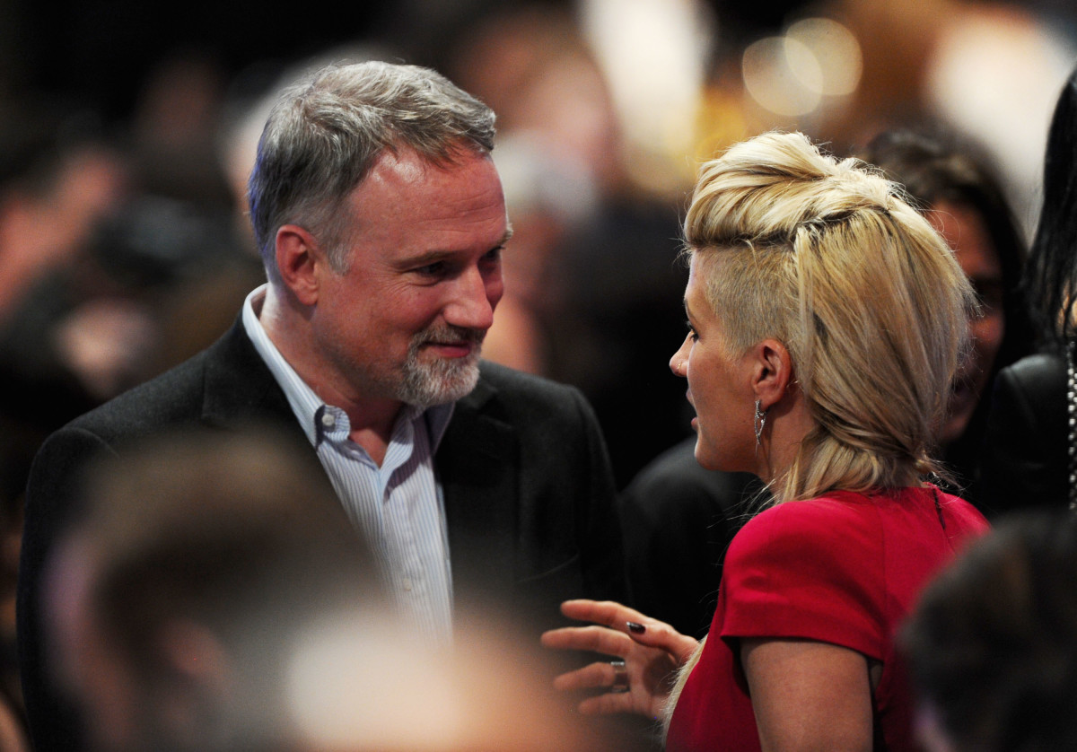 David Fincher and Summerville at the 2012 Costume Designers Guild Awards.