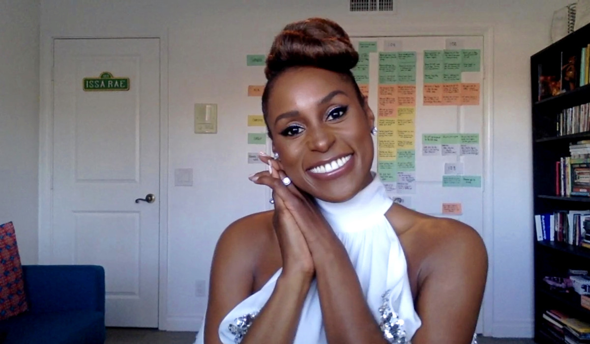 Issa Rae, winner of Outstanding Actress in a Comedy Series category speaks at the 52nd NAACP Image Awards Virtual Press Conference